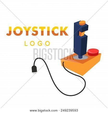 Joystick Logo Yellow Retro Joystick Icon Vector Image