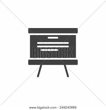 Whiteboard Vector Icon. Filled Flat Sign For Mobile Concept And Web Design. Presentation Board Simpl