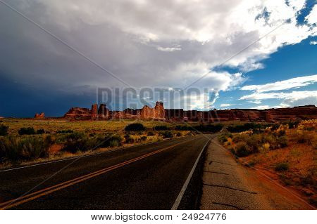 Road view at Arches National Park, Utah