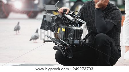Blurred Images Of Video Camera And Lens