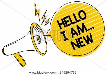 Handwriting Text Hello I Am... New. Concept Meaning Introduce Yourself Meeting Greeting Work Fresh W