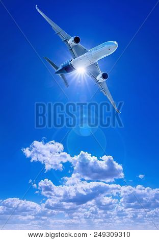 Modern Aircraft Against A Clear Blue Sky