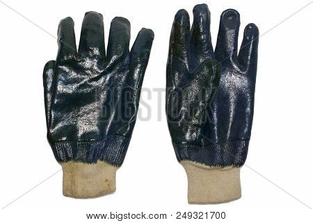 Nitrile Coated Working Gloves. Skintight Knitted Fabric Cuff For Wrist, Green Protective Covering. E