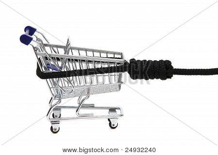 Shopping Addiction - Shoppingcart On Gibbet