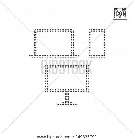 Gadgets Dot Pattern Icon. Gadgets Dotted Icon Isolated On White Background. Vector Illustration Of G