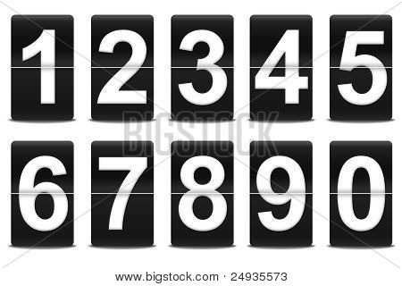 Set Of Black Flip Numbers