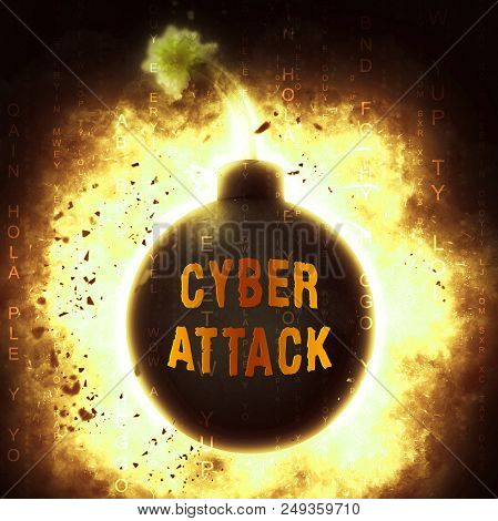 Hacker Cyberattack Malicious Infected Spyware 3D Illustration