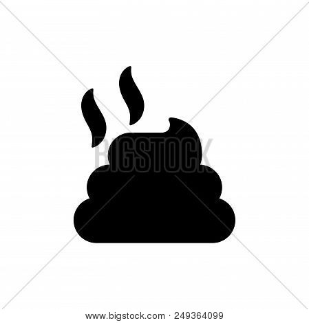 Pile Of Dung Vector Icon Flat Style Illustration For Web, Mobile, Logo, Application And Graphic Desi