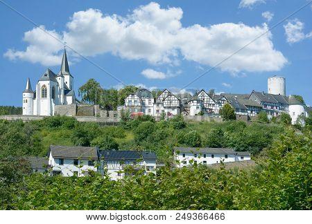 Idyllic Village Of Reifferscheid  In Eifel Near National Park,north Rhine Westphalia,germany
