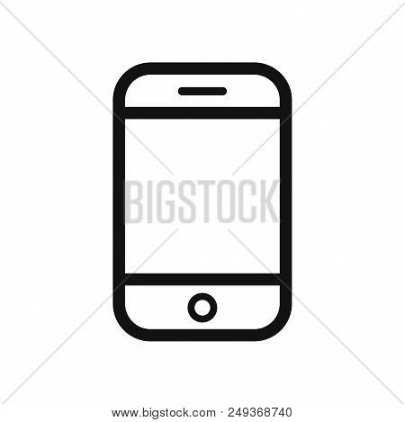 Smartphone Icon Isolated On White Background. Smartphone Icon Modern Symbol For Graphic And Web Desi