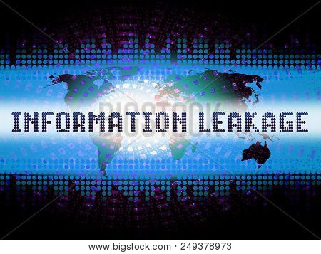 Information Leakage Unprotected Digital Flow 2D Illustration