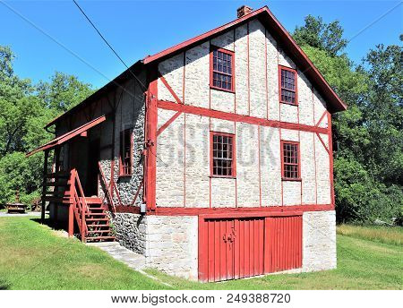 Historical Turn Of The Century Grist Mill In Eastern Ontario