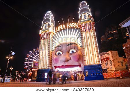 Luna Park  Is The Park Was Constructed At 600 Metres From The Sydney Harbour Bridge During 1935, And