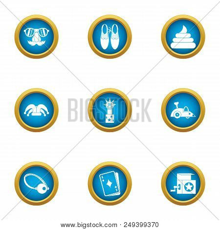 Merriment Icons Set. Flat Set Of 9 Merriment Vector Icons For Web Isolated On White Background