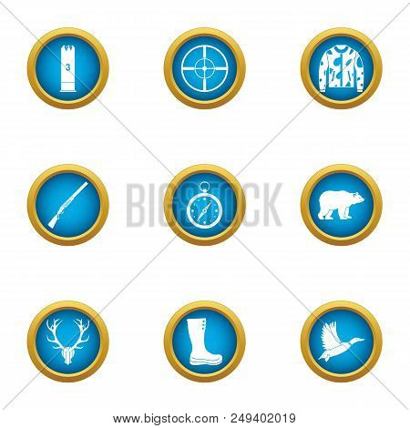 Pursue Icons Set. Flat Set Of 9 Pursue Vector Icons For Web Isolated On White Background