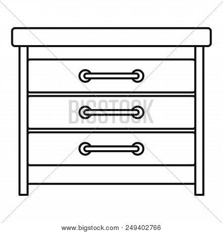 Dresser Icon. Outline Illustration Of Dresser Vector Icon For Web Design Isolated On White Backgroun