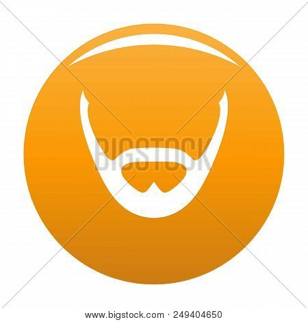 Beard And Whiskers Icon. Simple Illustration Of Beard And Whiskers Vector Icon For Any Design Orange