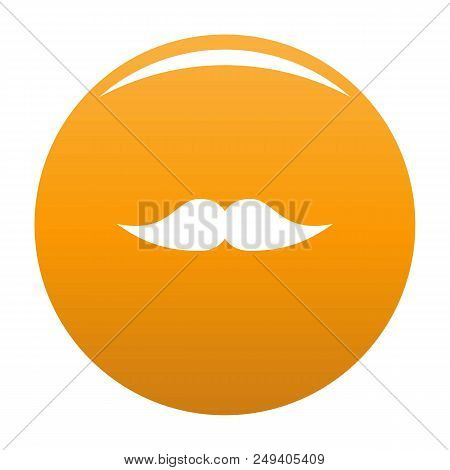 Movie Whiskers Icon. Simple Illustration Of Movie Whiskers Vector Icon For Any Design Orange