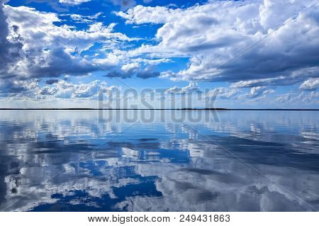 A Spectacular Inspirational Brightly Coloured Atmospheric Cloudy Sky Cloudscape Featuring A Cumulus
