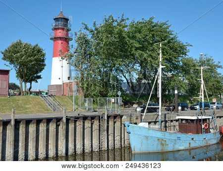 Harbor Of Buesum At North Sea In North Frisia,schleswig-holstein,germany