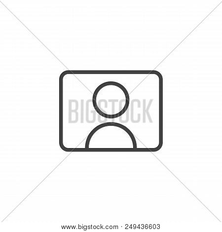 Video Streamer Blogger Outline Icon. Linear Style Sign For Mobile Concept And Web Design. Youtuber S