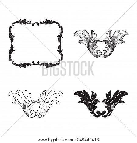 Classical Baroque Vector Set Of Vintage Elements For Design. Decorative Design Element Filigree Call