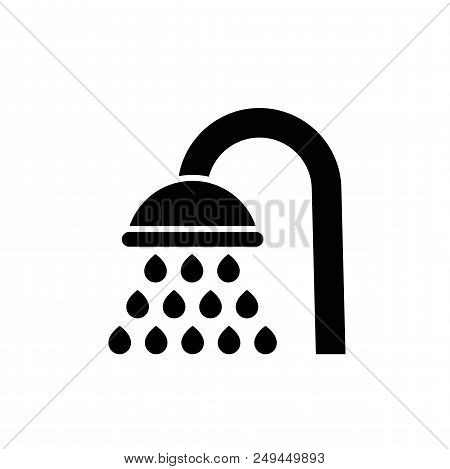 Shower Vector Icon. Filled Flat Bathroom Symbol Isolated On White Background. Showerheads Simple Sol