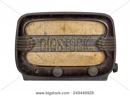 Classical Grunge Classical Analog Radio Receiver Isolated On White Background Including Clipping Pat