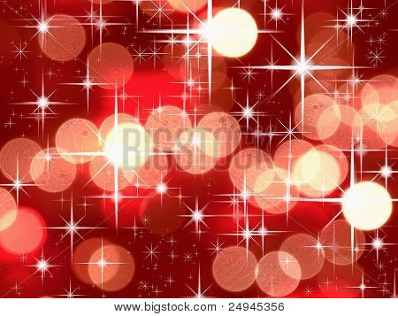 Bright Star And Red Tone Bokeh
