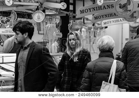April 13th, 2018, Cork, Ireland - People Shopping On Patrick Street, The Main Street For Stores, Str