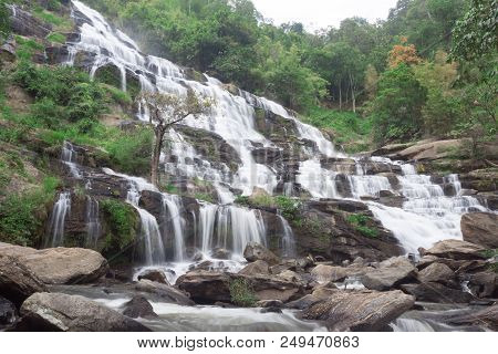 Mae Ya Waterfall, The Popular Place In Chiang Mai , Thailand