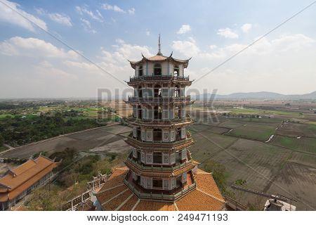 Chinese Tower At Tiger Cave Temple (wat Tham Sua), Kanchanaburi Province, Thailand