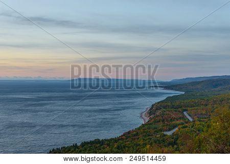 Cabot Trail Scenic View At Dawn (cabot Trail, Cape Breton, Nova Scotia, Canada)