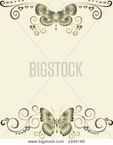 Abstract Butterfly Frame - Vector