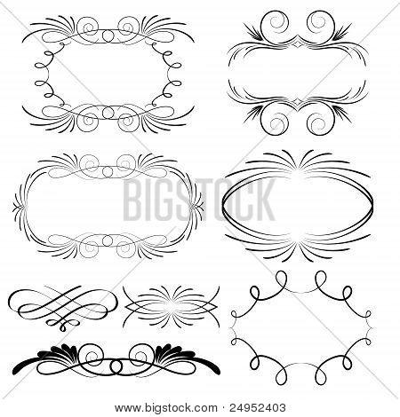 Decorative Calligraphic Frames And Design Elements