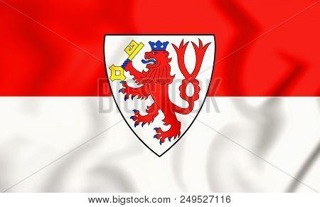 3d Flag Of Radevormwald (north Rhine-westphalia), Germany. 3d Illustration.