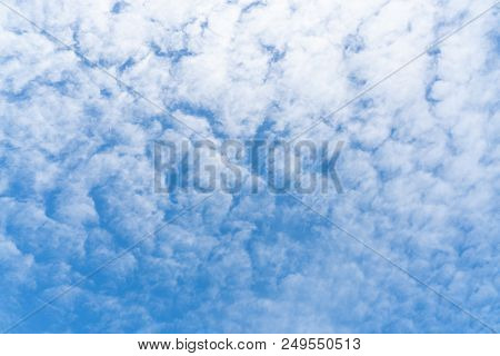 Lovely Day Have A Blue Sky And Beautiful Cloud, Cloud Background Concept