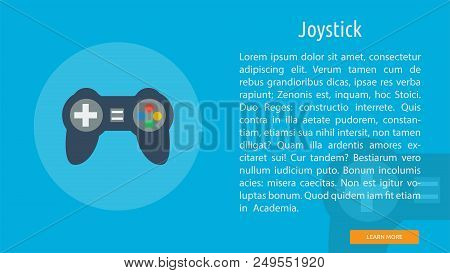 Joystick | Great Flat Illustration Concept Icon And Use For Technology, Object, Design And Much More