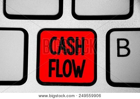 Writing Note Showing Cash Flow. Business Photo Showcasing Movement Of The Money In And Out Affecting