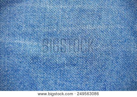 Blue Natural Clean Denim Texture Ofjeans Ackground