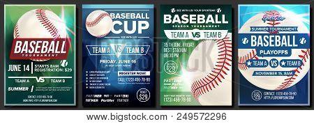 Baseball Poster Vector. Design For Sport Bar Promotion. Baseball Ball. Modern Tournament. Baseman, B