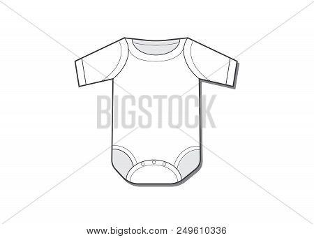 Baby Bodysuit Flat Vector & Photo (Free Trial) | Bigstock
