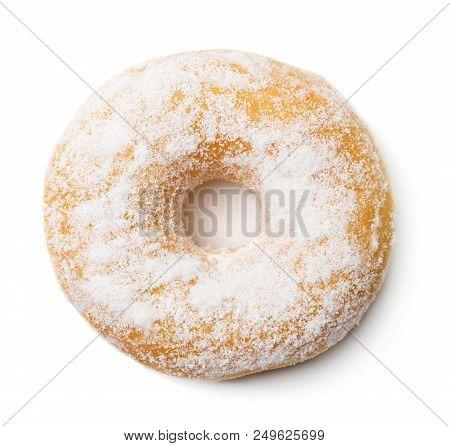 Single Fresh Baked Doughnut Isolated On White Background
