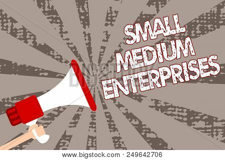 Text Sign Showing Small Medium Enterprises. Conceptual Photo Companies With Less Than Thousand Worke