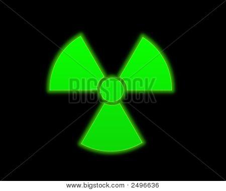 Green Radioactive Symbol