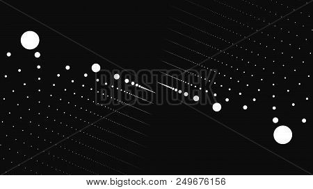 Abstract Background With Animation Of Slow Moving Particles. Animation Of Seamless Loop. Dot Particl