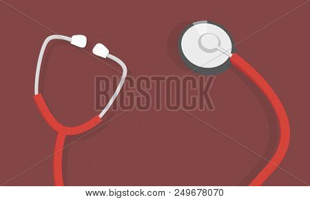 Health Care Vector Concept With Stethoscope. Medical Care Health And Diagnosis With Stethoscope Medi