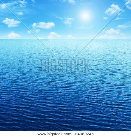 Blue sky,sun and sea.