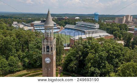 July 15, 2018 - Chapel Hill, North Carolina, USA: Kenan Memorial Stadium is located in Chapel Hill, North Carolina and is the home field of the North Carolina Tar Heels.