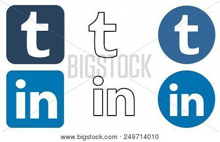 Sragen, Indonesia - August 31, 2017: Social Media Icon Design Illustration Vector